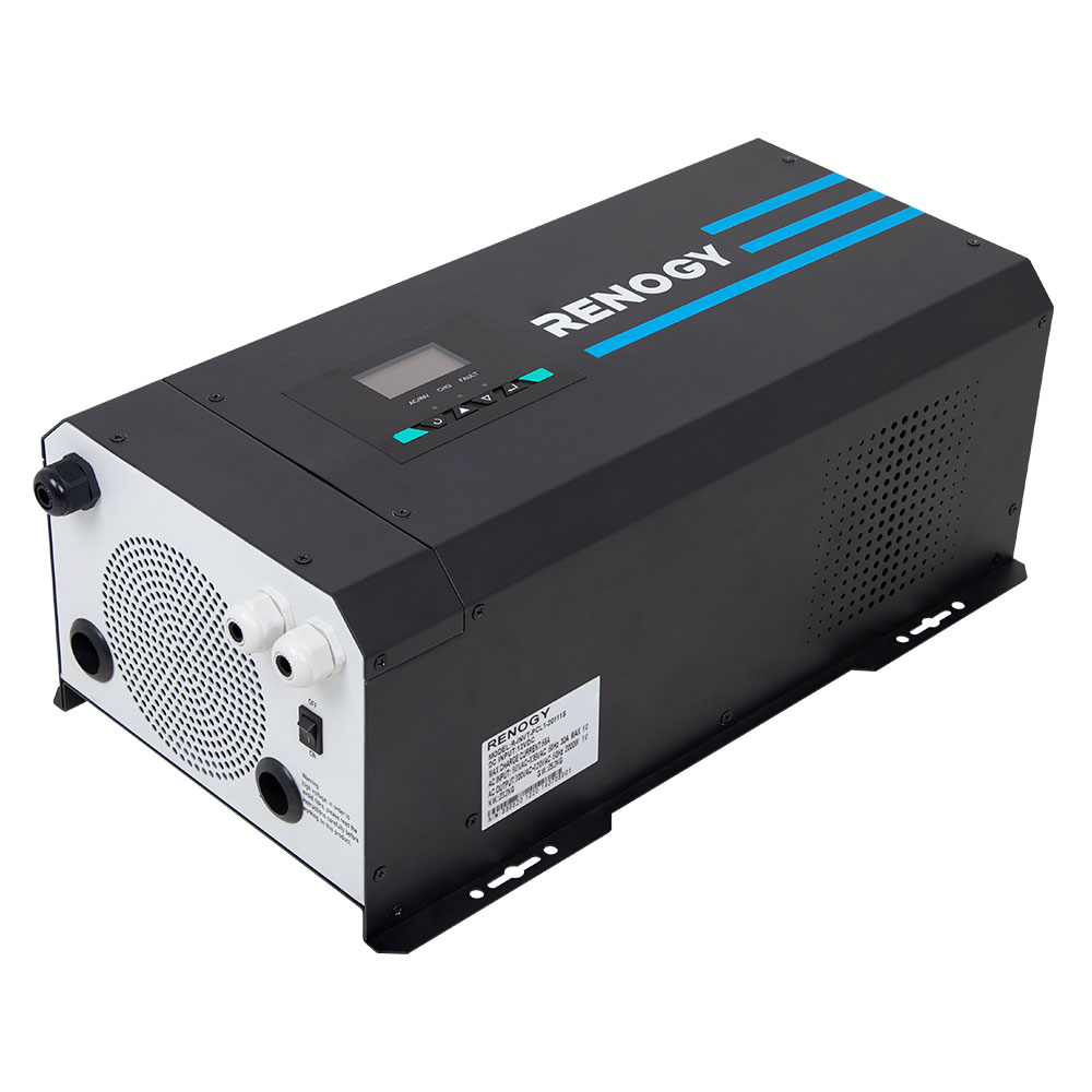 2000 Watt 12V Pure Sine Wave Inverter Charger w/ LCD Display