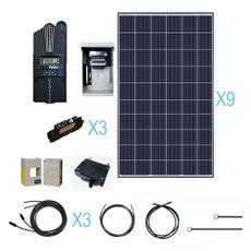 Renogy 2400 Watt 48 Volt Polycrystalline Solar Cabin Kit
