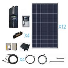 Renogy 3200 Watt 48 Volt Polycrystalline Solar Cabin Kit