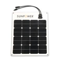 SunPower® Flexible 50 Watt Monocrystalline Solar Panel