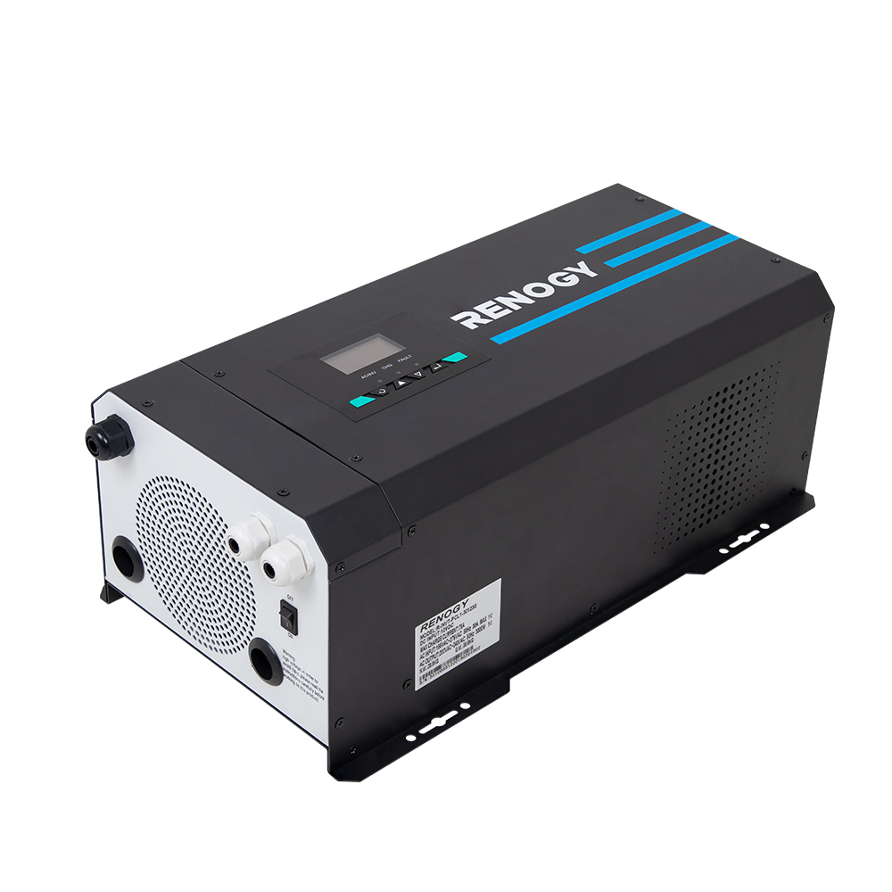 3000 Watt 12V Pure Sine Wave Inverter Charger w/ LCD Display
