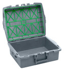 C1 Single-tray Container, Charcoal, Empty