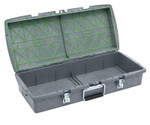 C2 Dual-tray Container, Charcoal,  Empty