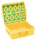 C1 Single-tray Container, Yellow,  Empty