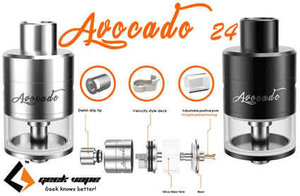 geekvape avocado 24 rdta tank