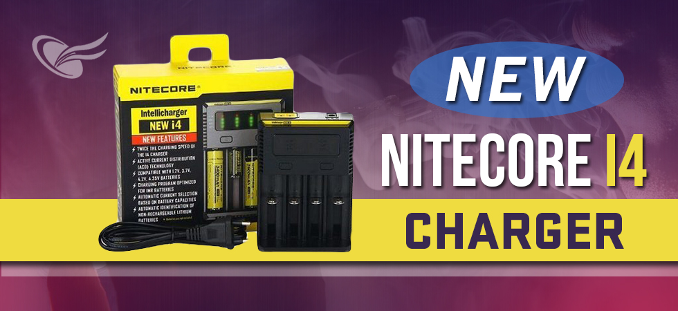 new nitecore i4 ecig battery charger
