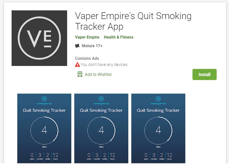 Google Play App to help you Quit Smoking