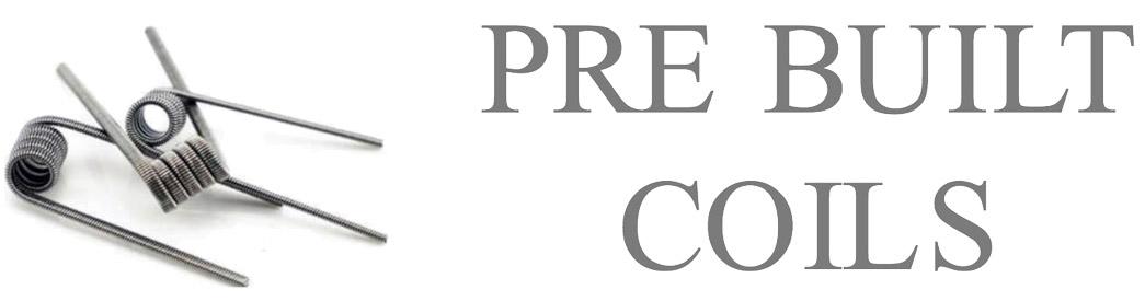 PreBuilt Coils | RDA Coils and Pre built clapton coils