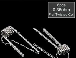 Prebuilt Twisted Flat RDA Coils