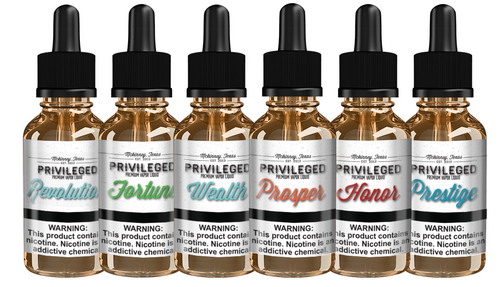 Premium Ejuice Privileged Line 30ml E Juice Sample Pack