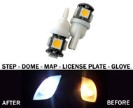 2 x LED License Plate, Map, Dome, Bulbs for Fiat