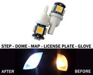2 x LED License Plate, Map, Dome, Bulbs for Mitsubishi