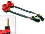 2 x Equinox D2S D2R D2C Xenon HID Bulb Ballast Adapter Cable Harness