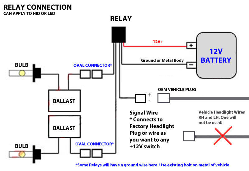 Wiring Diagram For Hid Relay
