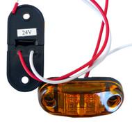 "2 x Equinox 24V Amber 2.6 x 1.1"" Bright LED Side Front Rear Lights"