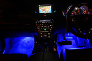 4 x Equinox LED Under Dash Kit Interior Glow Lights (Blue)