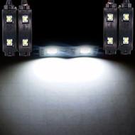 4 x Equinox LED Under Dash Kit Interior Glow Lights (White)