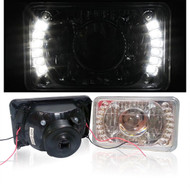 Pair of Equinox 4x6 Euro Glass Clear LED Sealed Beam Headlights (4656/4651/4666)