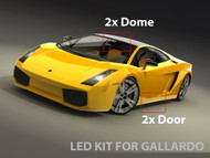 LED Interior Kit for Lamborghini Gallardo 2004-2012