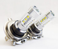 2 X H4 Equinox CREE 80W High Power Stage 4 LED Low Beams
