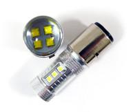 2 X BA20D H6 Equinox CREE 80W High Power Stage 4 LED Lights