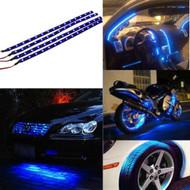 4 x Equinox 30CM/15 LED Flexible Strip Light 12V Waterproof for Cars, Trucks, etc (Blue)