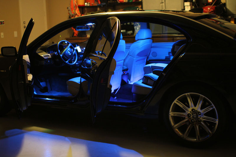 Car Interior License Plate Led Replacement Package Kit Blue