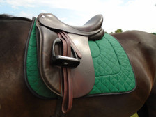 Hunter Green with Black Trim Horse Dressage Saddle Pad Front View