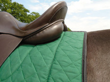 Hunter Green with Black Trim Horse Dressage Saddle Pad Back View