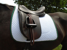 Wilker's Style 19BC Dressage Show Saddle Pad Front View