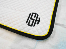 Wilker's Dressage 19BC Saddle Pad with Monogram Close Up