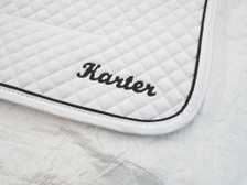 Wilker's Dressage 19BC Saddle Pad with Embroidery Close Up
