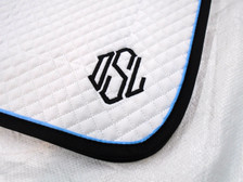 Wilker's 19BC Saddle Pad with Monogram Close Up