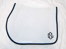 Wilker's 19BC Saddle Pad with Monogram Front View