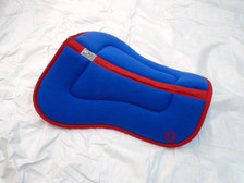 Wilker's Style 14BP Half Pad Royal Blue with Red Trim with Embroidery