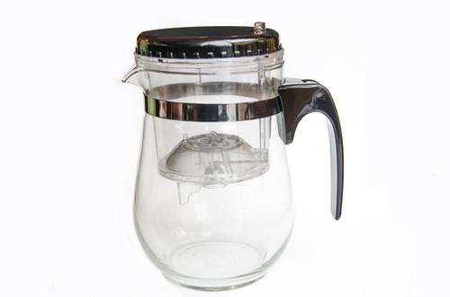 500ml Easy Push Button Strainer Tea Pot (ROUND)