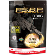 G&G Perfect .30g BBs 2000 Rounds  -White