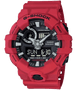 Casio G-shock Ana-Digi Super Illuminator Red/Black GA700-4A