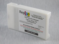 Repleo Recycled 220 ml Cartridge for the Epson Pro 7800/9800 filled with Cave Paint Elite Enhanced pigment ink - Light Black