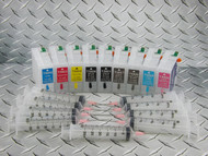 Refillable cartridge set for Epson Pro 3800 - 9 x refillable cartridges - empty, no inks included