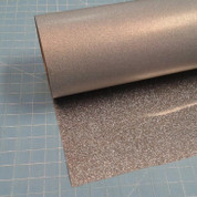 "Black Silver Siser Glitter 20"" Roll (Click for Lengths)"
