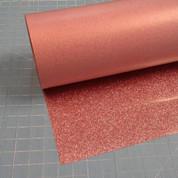 """Rose Gold Siser Glitter 20"""" Roll (Click for Lengths)"""
