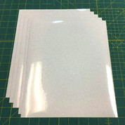 "White Siser Glitter Five (5) 10"" x 12"" Sheets"