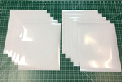 "White Siser Glitter Ten (10) 10"" x 12"" Sheets"