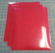 """Red Glitterflex Three (3) 10"""" x 12"""" Sheets"""
