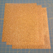 "Gold Siser Glitter Three (3) 10"" x 12"" Sheets"
