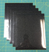 "Black Siser Glitter Five (5) 10"" x 12"" Sheets"