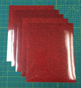 "Red Siser Glitter Five (5) 10"" x 12"" Sheets"