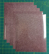 "Rose Gold Siser Glitter Five (5) 10"" x 12"" Sheets"