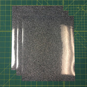 "Black Silver Siser Glitter Three (3) 10"" x 12"" Sheets"